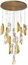 Design pendant light Idesia 21 Bulbs Brass 40,5 Cm