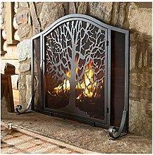 Design Specialties Black Arch Panel Fireplace
