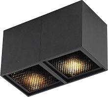 Design spot black 2-light - Qubo Honey