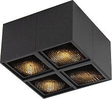 Design spot black 4-light - Qubo Honey