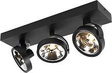 Design spot black adjustable 3-light incl. LED - Go
