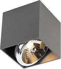 Design spot square 1 light gray incl. 1 x G9 - Box