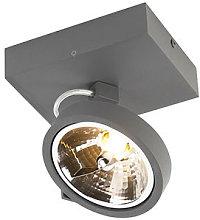 Design spotlight gray adjustable 1-light incl. LED