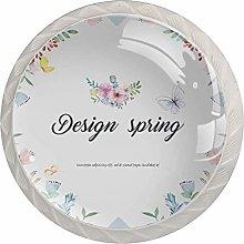 Design Spring 4pcs Glass Cupboard Wardrobe Cabinet