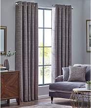 Design Studio Orion Zinc Eyelet Lined Curtains