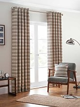 Design Studio Rio Monochrome Eyelet Lined Curtains