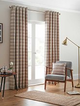 Design Studio Rio Ochre Eyelet Lined Curtains