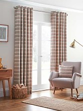 Design Studio Rio Spice Eyelet Lined Curtains