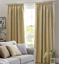 Design Studio Sienna Ochre Pencil Pleat Lined