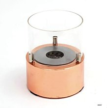 Design table bioethanol fireplace in glass and