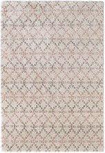 Design Verlour Deep Pile Carpet Cameo Cream Pink