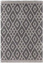 Design Verlour Deep Pile Carpet Chess Grey Cream