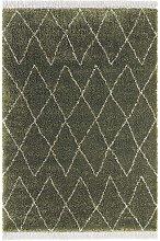 Design Verlour Deep Pile Carpet Jade Olive Green