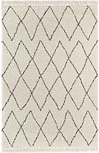 Design Verlour Deep Pile Carpet Jade with Fringes