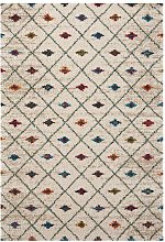 Design Verlour Deep Pile Carpet Jovina Cream Multi