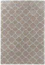 Design Verlour Deep Pile Carpet Luna Beige Cream