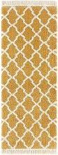 Design Verlour Deep Pile Carpet Pearl with Fringes