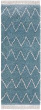 Design Verlour Deep Pile Carpet Ruby With Fringes