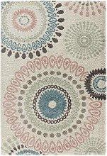 Design Verlours Deep Pile Carpet Globe Cream 120 x