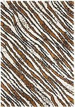 Design Verlours Deep Pile Carpet Life Brown Cream