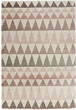 Design Verlours Deep Pile Carpet Triangle Rose