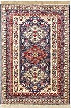 Design Viscose Carpet Cult Fringed Blue 70 x 140cm