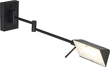 Design wall lamp black incl. LED with touch dimmer