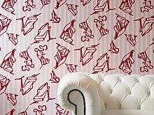 Designer Barbara Hulanicki Shoes Stripe Pink Real