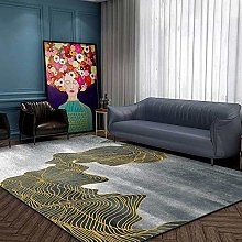 Designer Carpet Modern rug Ink landscape golden
