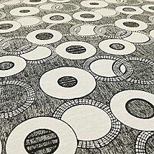 Designer Circular Eclipsed Pattern Black Chenille