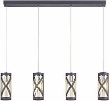 Designer pendant light Istria 4 bulbs mat gray 86