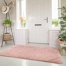 Designer Plush Fluffy Pale Pink Shaggy Carpet Rug