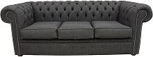 Designer Sofas 4 U - Buy Grey Chesterfield Linen