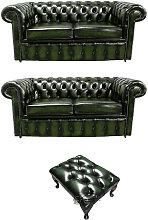 Designer Sofas 4 U - Chesterfield 2+2+footstool