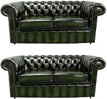 Designer Sofas 4 U - Chesterfield 2+2 Leather Sofa