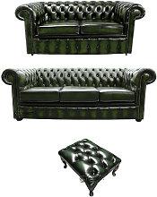 Designer Sofas 4 U - Chesterfield 3+2+footstool