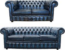 Designer Sofas 4 U - Chesterfield 3+2 Leather Sofa