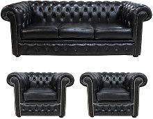Designer Sofas 4 U - Chesterfield 3 Piece Leather