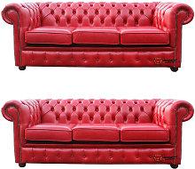 Designer Sofas 4 U - Chesterfield 3 Seater + 3