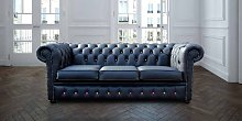 Designer Sofas 4 U - Chesterfield 3 Seater Black