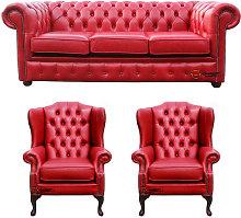 Designer Sofas 4 U - Chesterfield 3 Seater Sofa +
