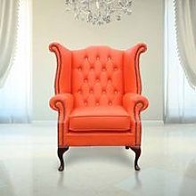 Designer Sofas 4 U - Chesterfield Orange Leather