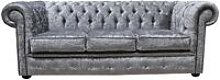 Designer Sofas 4 U - Chesterfield Silver Velvet