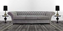 Designer Sofas 4 U - Grey silver fabric