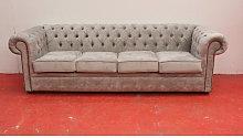 Designer Sofas 4 U - Large Grey Silver