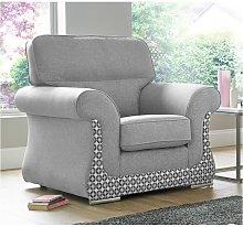 Designer Sofas 4 U - Luna Armchair 1 Seater Fabric