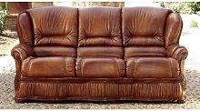 Designer Sofas 4 U - Roma 3 Seater Italian Leather