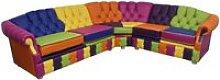 Designer Sofas 4 U - Victoria Patchwork Corner