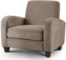 Designer Sofas 4 U - Vivo Chair in Mink Chenille