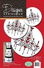 designer stencils C474 Chandelier Stencil Set Cake